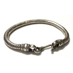 Vintage Sterling Snake Bracelet